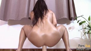 College Teen Rides Huge Dildo And Squirt Like A Fountain!11 Inch Huge Dildo