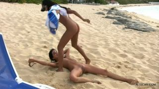 Piss Drinking Lesbians On The Beach