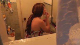 Teenager Son Spies On Step Mom In Shower. Mother Masturbation
