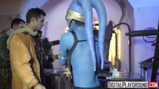 Star Wars Underworld: A Xxx Parody Scene 2, Slave Eva Lovia Takes Two Dick
