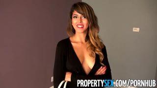 Propertysex - Sizzling Hot Tenant Fucks Her Landlord At Rental Showing
