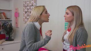 Steplesbians - Stepsisters Abella Danger And Nikki Peach Bonding Over Sex