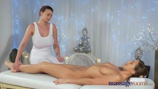 Massage Rooms Teen With Massive Tits Gets Licked And Fucked By Hot Lesbian