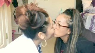 Asian Lesbo Tounge Kissing(girl On Left Can Kiss