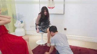 4 Cruel Chinese Hotties Abuse , Kick And Slap A Slae