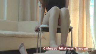 Chinese Youthful Woman Footjob And Handjob