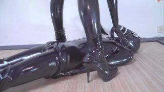 Latex Catsuit Gasmask Coition