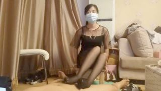 Chinese Beautiful Nylon Tights Footjob