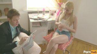 Blonde Legal Age Adolescent Gets Tutored In Anus Sex