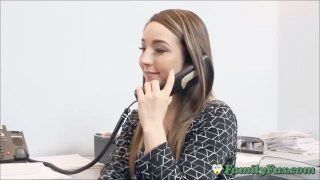 Daughter Bambi Brooks Whorish Office Helper Experience With Stepfather